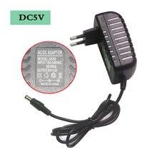 Adaptador de alimentação, AC100-240V para dc5v adaptador de fonte de alimentação adaptador de comutação da fonte dc5v 1a 3a 6a 8a 10a ue eua au uk plug para lâmpada led