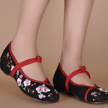 2016 Fashion Old Peking Flats Flower With Embroidery Women Casual Shoes With Flowers zapatos mujer Size 34-41