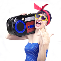 SJ Women Leather Shoulder Bags Female Handbags Totes Braccialini Style Handicraft Cartoon Music Retro Recorder Bag Radio Model
