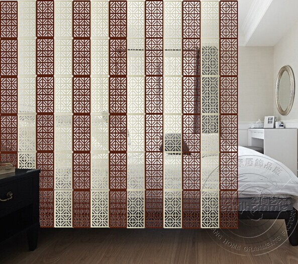 4pcs/lot Biombo Room Dividers Partitions Hanging Screen Room Divider Modern  Fashion Wood Color Screen