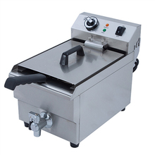 Newest Electric Stainless Steel High Power Fast Heating Deep Fryers Overheat Protection