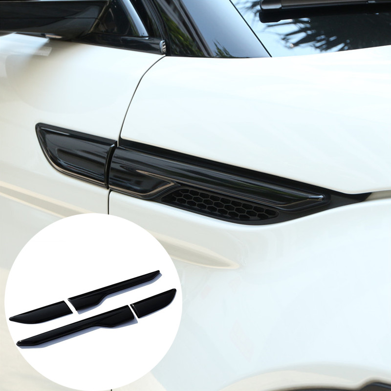 For Land Rover Range Rover Evoque Black Side Air Vent Outlet Cover Trim 2012-2016 2pcs for land rover range rover evoque car interior accessories rear air conditioning vent cover frame trim stickers 2014 2017