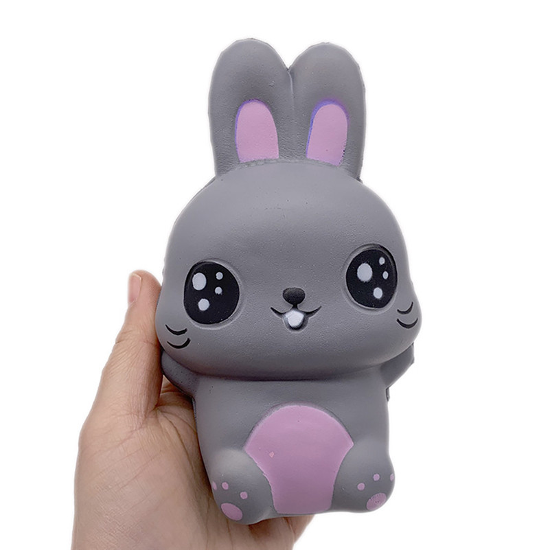 Cute Gray Rabbit Stress Reliever Scented Super Slow Rising Kids Squeeze Toy Kawaii Stationery Wipes Anti-stress E1