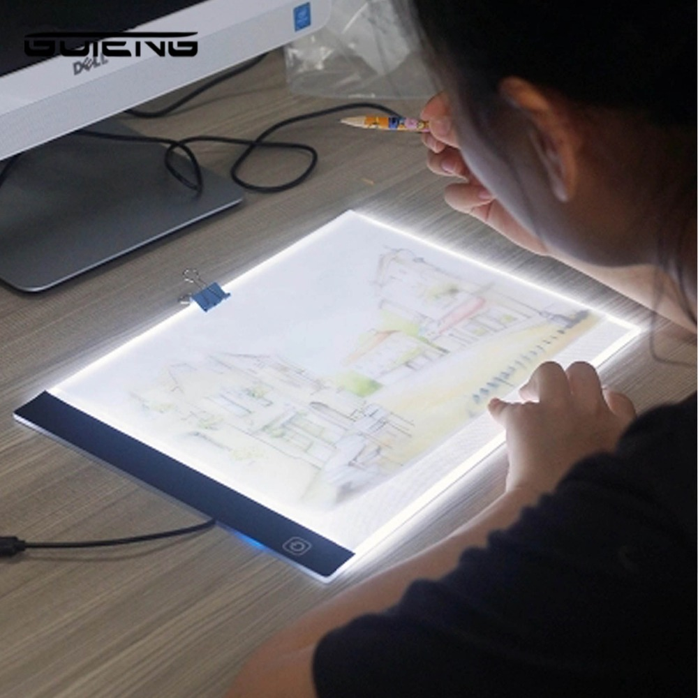 LED Lighted Drawing Board Ultra  Drawing Table Tablet Light Pad Sketch Book Blank Canvas For Painting Acrylic Watercolor Paint