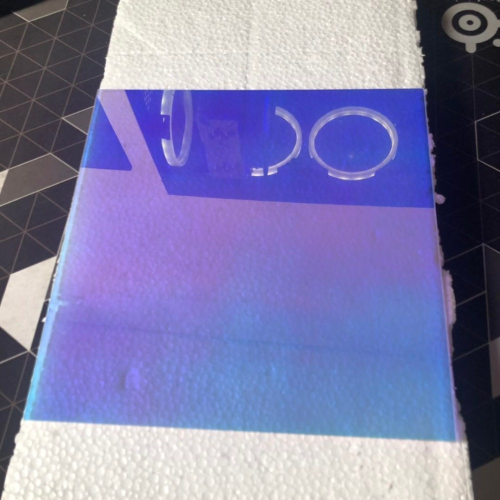 New Color Laser Plexiglass PMMA Plastic Sheet Acrylic Board Organic Glass Polymethyl Methacrylate 2/3/5mm Thickness 200*200mm