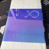 Nova cor laser plexiglass pmma folha de plástico acrílico placa de vidro orgânico polymethacrylate 2/3/5mm espessura 200*200mm|Ferragens p/ cortina| |  -