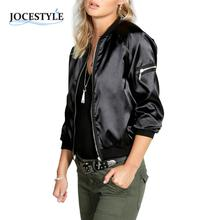 Womens Jacket Ladies Classic Padded Bomber Jacket Vintage Zip Up Biker Coat Brand Stylis Casual Stand Collar Slim Fit Outerwear