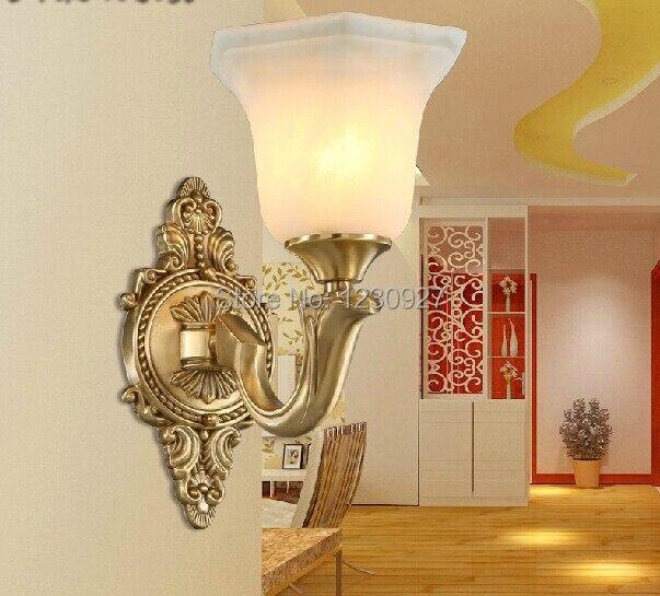 3 Вт LED Медь Бра в европейском и американском стиле имитация мрамора Медь Бра Гостиная бра спальня ночники Роскошные