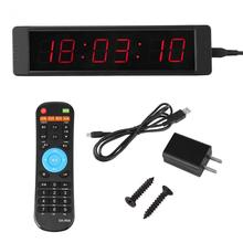 Stopwatch Clock Gym-Timer Led-Display Fitness Sports-Timming Interval Remote-Control