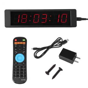 Training Timer LED Display Electronic Clock Stopwatch Interval Timer Prescise Wall Clock with Remote for Gym Fitness Training(China)