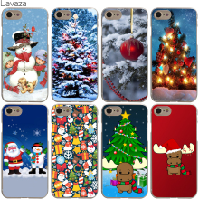 Lavaza Santa Claus Christmas tree Deer Cover Case for iPhone X 10 8 7 Plus 6 6S Plus 5 5S SE 5C 4 4S Cases
