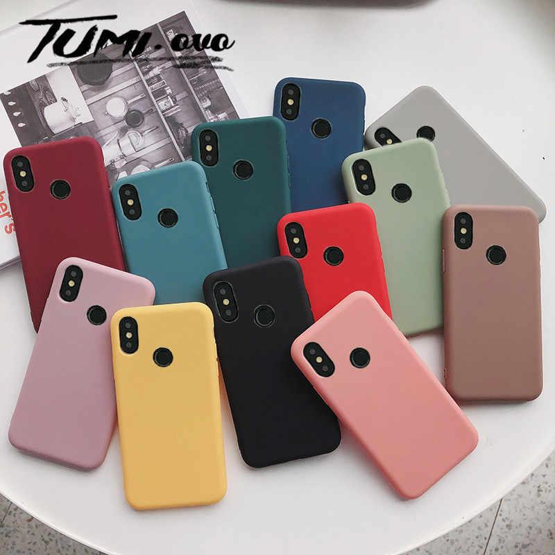 Матовая Твердые Цвет силиконовые пары Чехлы для Huawei NOVA 2 S 3 3i 4 Honor 9 10 P10 плюс P20 про милый Карамельный цвет мягкий чехол для телефона