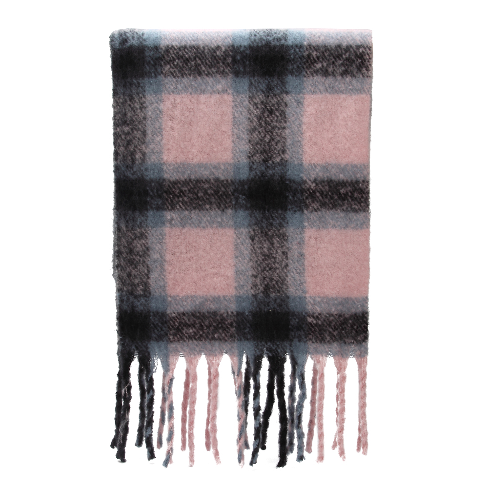 Image 5 - Winfox 2018 New Brand Winter Pink Grey Warm Tartan Plaid Cashmere Blanket Scarves Shawl Foulard Scarf For Womens Ladies-in Women's Scarves from Apparel Accessories