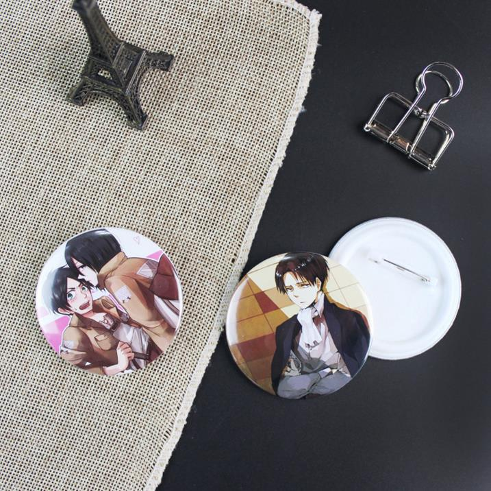 Image 3 - 5 Pcs Hot Sale Anime Attack on Titan Cosplay Badge Cartoon Brooch Pins Collection Bags Badges for Backpacks Button Clothes Toys-in Action & Toy Figures from Toys & Hobbies