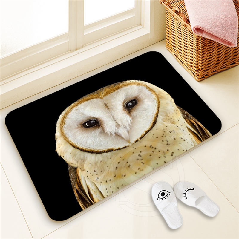H-P935 Custom owl#6 Doormat Home Decor High Quality Pattern Door mat Floor Mat foot pad SQ00806#H0935