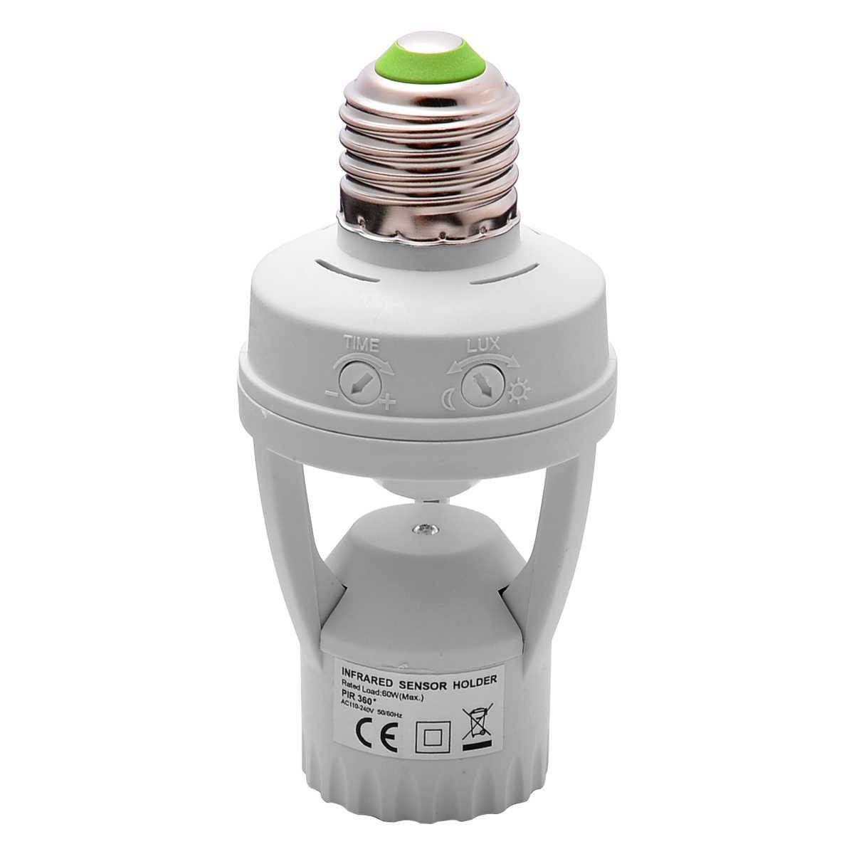 110/220 В инфракрасный PIR датчик движения светодиодный светильник держатель лампы гнездо переключатель светильник аксессуар