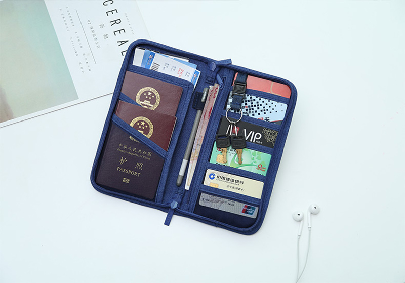 Travel Passport Cover Multifunction Wallet Document Organizer Cover Men Women Business ID Card Holder Case Wrist Strap PC0047 (3)