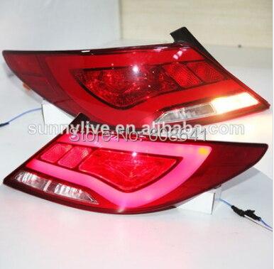For Hyundai Verna Solaris  LED Tail Lamp 2010-13 year YZ Type farcar s130 hyundai solaris 2010 android r067