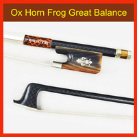 4/4 Size VIOLA BOW 118M Natural Ox Horn Frog and Screw Woven Carbon Fiber Stick High Quality Horsehair Violin Parts Accessories