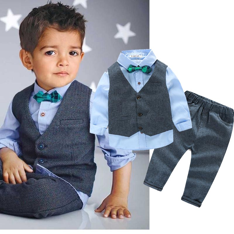 Fashion Kids Clothes Baby Boy Clothes Sets Gentleman Suit Toddler Boys Clothing Long Sleeve Children Clothing 2017 baby boys clothing set gentleman boy clothes toddler summer casual children infant t shirt pants 2pcs boy suit kids clothes