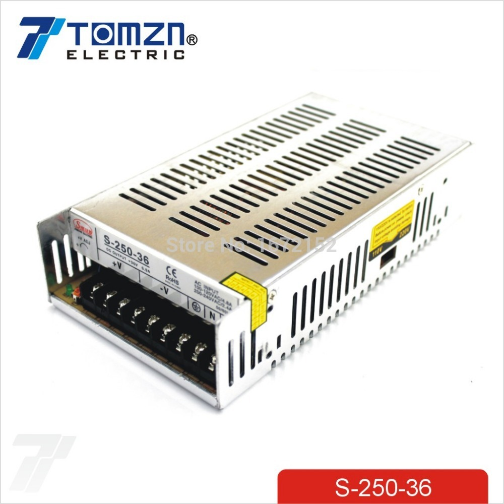 цена на 250W 36V 6.9A Single Output Switching power supply for LED Strip light AC to DC