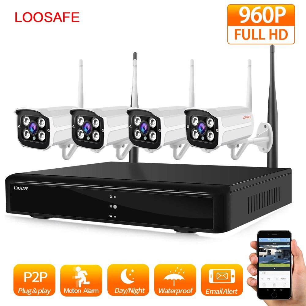"""""""LOOSAFE WIFI"""" apsaugos kamerų sistema """"NVR Kit 960P HD"""" belaidžio vaizdo stebėjimo sistemos lauko IP kamerų sistema Namų vaizdo stebėjimo sistema"""