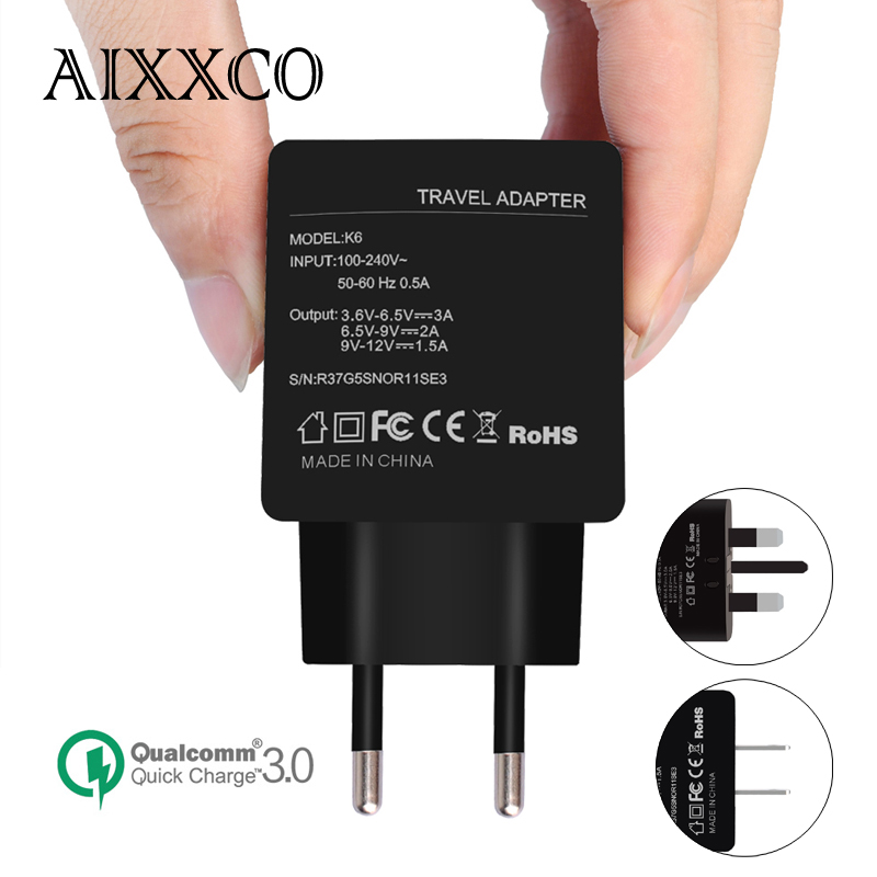 AIXXCO Quick Charge 3 0 Quick Charge 2 0 Compatible 18W font b USB b font