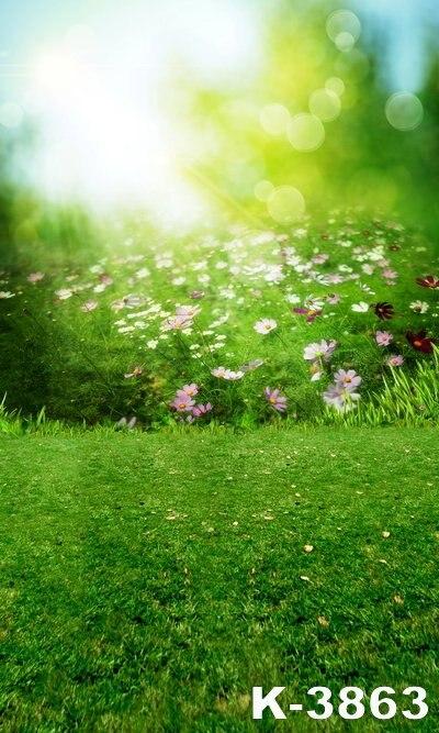 5ft * 7ft для Для детей Детские фотографии Studio Книги по искусству фотографии фоне декораций зеленая трава цветы Одеяло сесть стоять на
