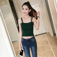 Elegant Casual Tank Tops Vest 2017 Spring Summer Women Sexy Tops Short Style Female Sexy Solid