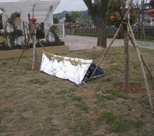240*150*90cm Emergency Blankets Earthquake silver accessories Emergency tents, camping tents