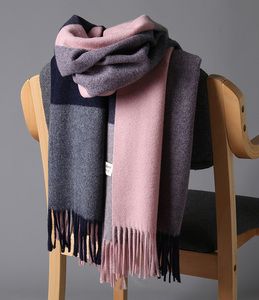 Image 3 - 2020 New Real Cashmere Scarf Stole Plaid Wool Scarves For Women Winter Warm Female Poncho Cape Fashion Lady 100 Pashmina Shawls