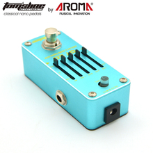 Aroma Mini Guitar Pedal Effect 5-Band Graphic EQ with Master Level Control Guitar Effect Pedal AGE3 Guitar True Bypass