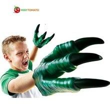 Dinosaur Toy Jurassic Dinosaur Gloves Toy Child Halloween Gift Gadgets For Boy Soft Vinyl PVC Animal Action Figure Cartoon Toy