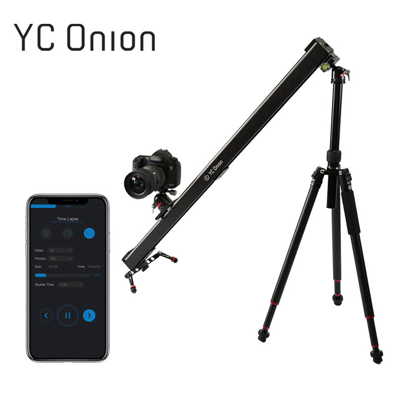 YC ONION Aluminum Motorized Camera Slider App Bluetooth Control Stable Smooth Camera Slider With Motor For Photography SLR DSLR