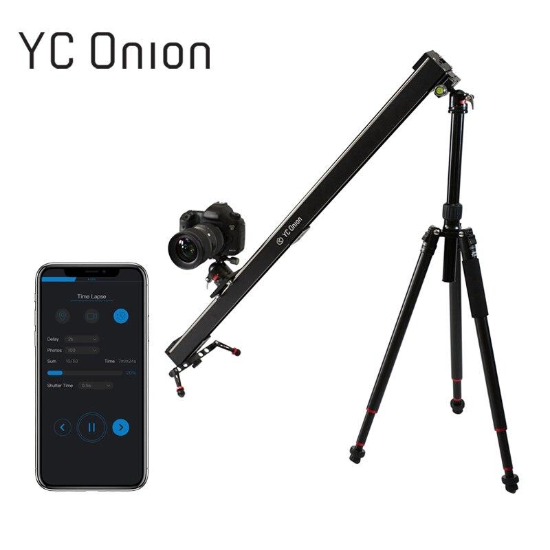 YC CIPOLLA di Alluminio Motorizzato Cursore Fotocamera App di Controllo Bluetooth Stabile Liscia Cursore Fotocamera Con Motore Per La Fotografia REFLEX DSLR