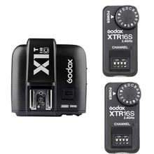Godox X1T-C TTL 2.4G Wireless Trigger +2x XTR-16S Flash Receiver for V850 V860C