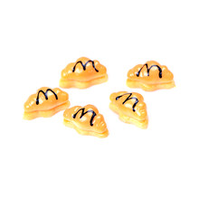 5Pcs ASlow Rising Cream Bread Squishy Atificial Bread Sets Phone Charms Straps Dolls Mini House Miniature Stretchy Toy Gift(China)