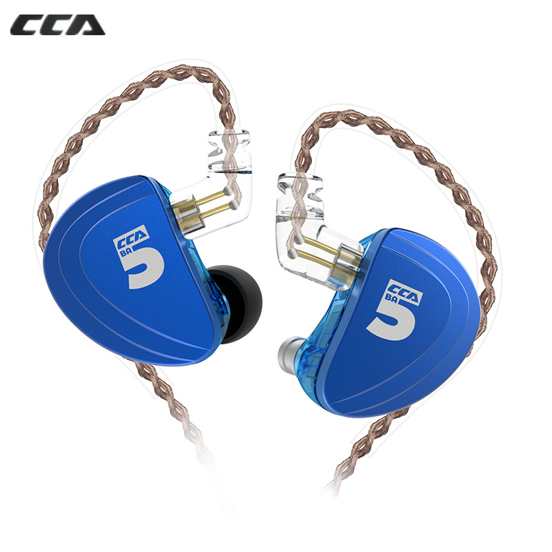 CCA A10 5BA In Ear Earphone HIFI Headset 5 Balanced Armature With Detachable 2PIN Cable CCA