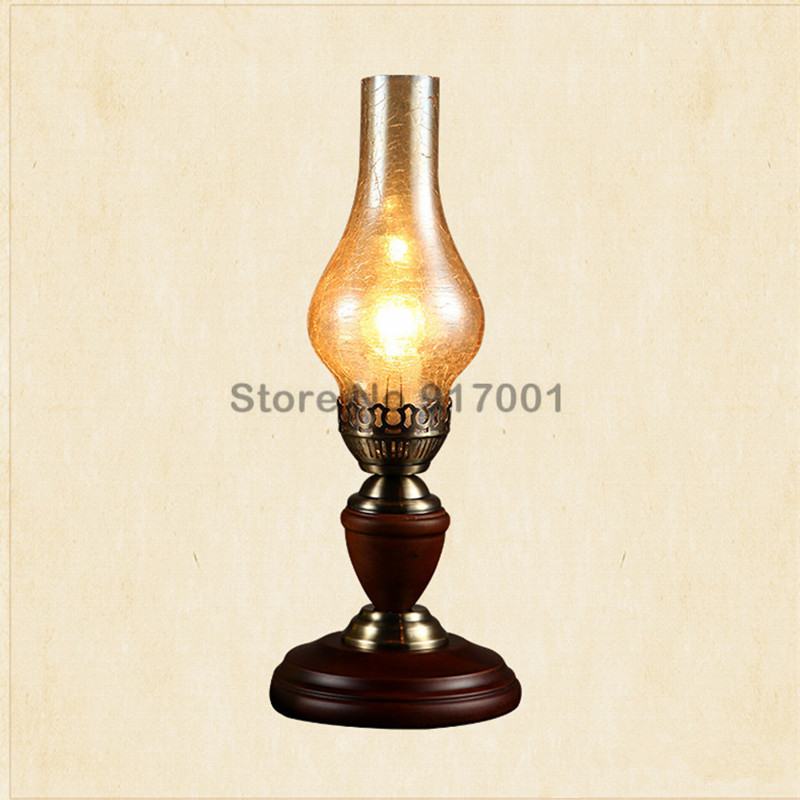 Vintage Wooden Dimmable Table Lamp LED  Living Room Bedroom Children's Room Eye Reading Energy-saving Decorative Lights american led vintage desk table lamp for bedroom living room led beside lamps lampara luminaira de mesa abajur para quarto