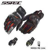 SSPEC New Men S Motorcycle Protection Riding Racing Gloves Wear Breathable Touch Screen 3 Color Free