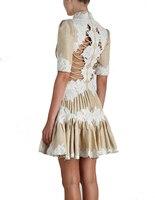 Новый австралийский модный показ сексуальные платья вышивка и мнется.