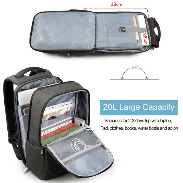 2018 Tigernu male 15.6 laptop backpack usb charge backpacks men female waterproof anti theft travel backpack schoolbag teenager