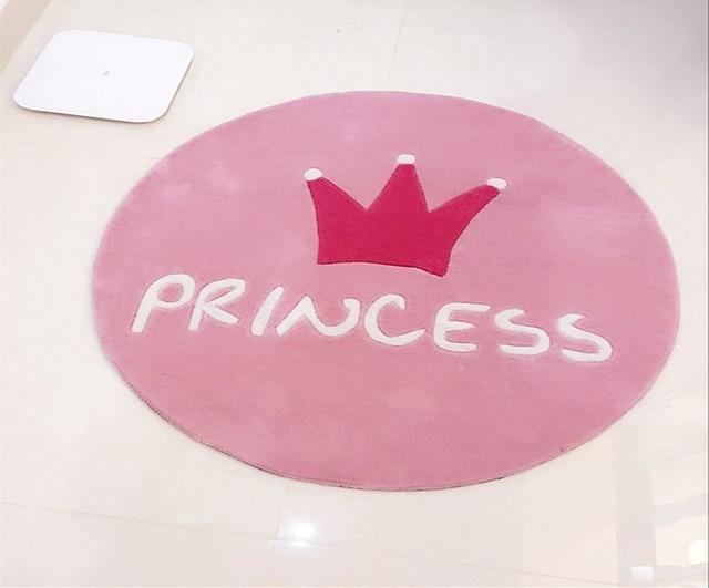 Leuke Stoel Slaapkamer : De prinses kroon ronde carpet kinderen roze slaapkamer bed stoel