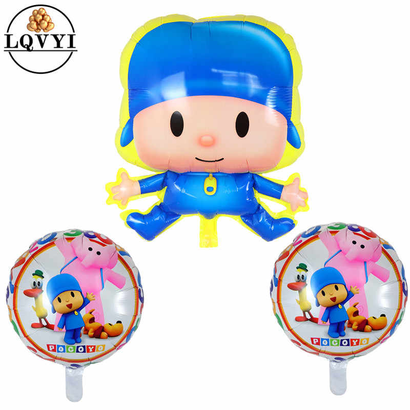 Balões Folha dos desenhos animados Pocoyo Dia das Crianças Suprimentos Baby Shower Birthday Party Decoration 18 Polegada Pocoyo Brinquedos Balão De Ar Globo