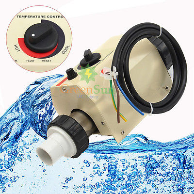 3KW 220V Swimming Pool & Bath SPA Hot Tub Electric Water Heater Thermostat Temperature Control presairtrol tinytrol spa hot tub bath pump blower air switch