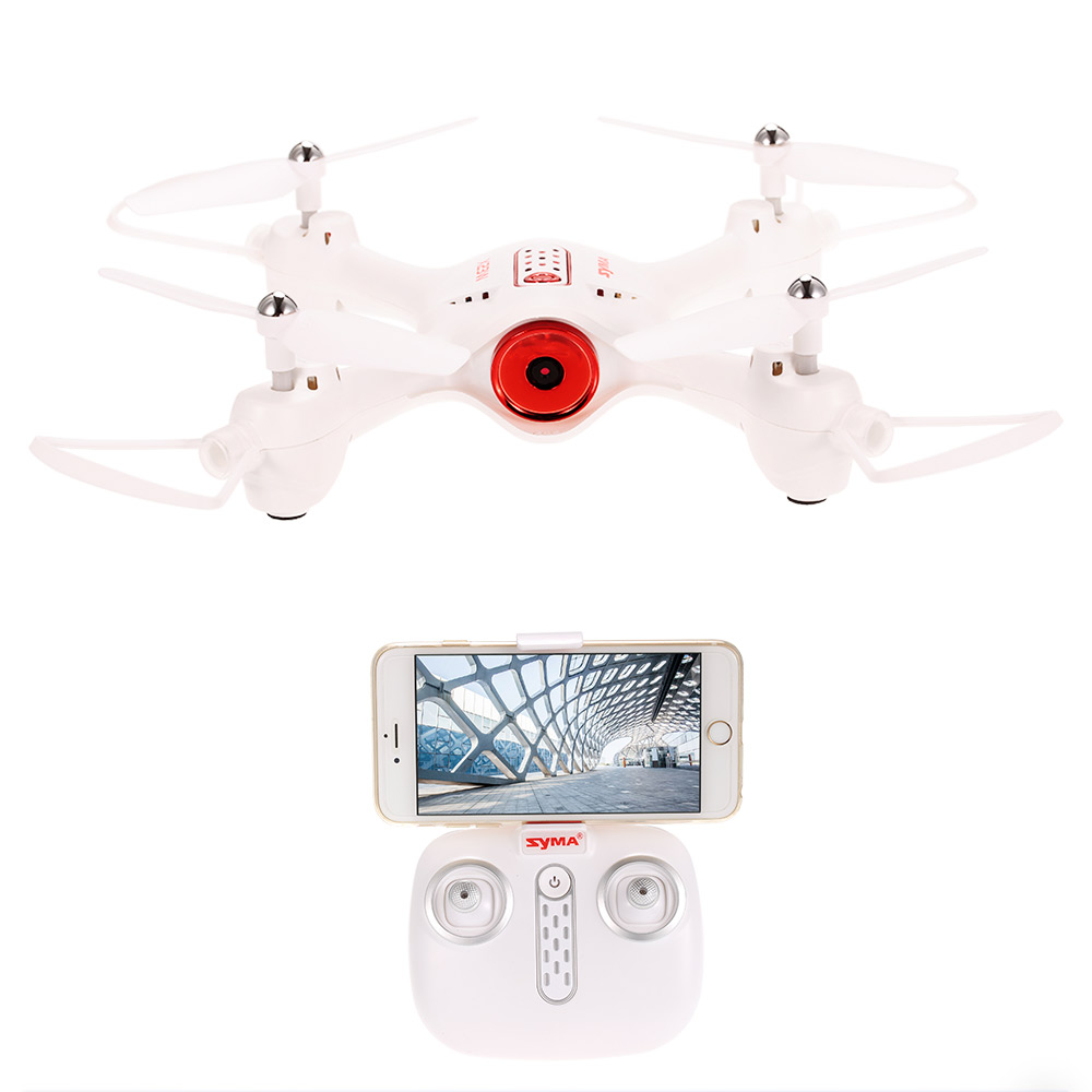 Syma X23W 0.3MP Camera Wifi FPV Drone Headless Mode Altitude Hold G-sensor Quadcopter syma x15w drone with 0 3mp camera wifi fpv rc quadcopter g sensor barometer set height headless mode 3d flips app control drone