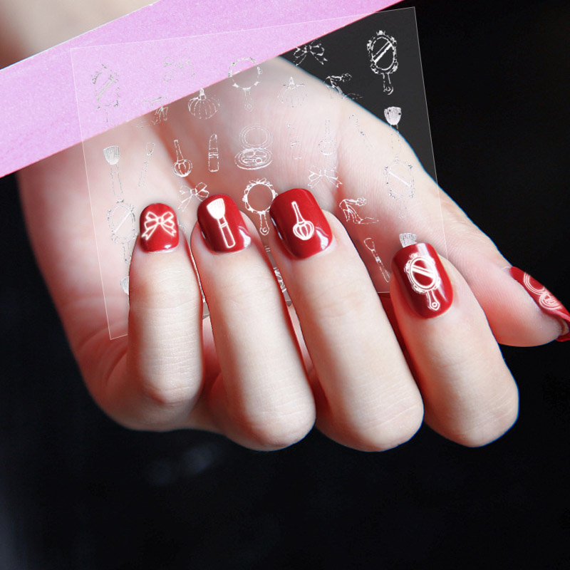Holographic Gold 3d Nail Sticker Baby Girldancelove Design