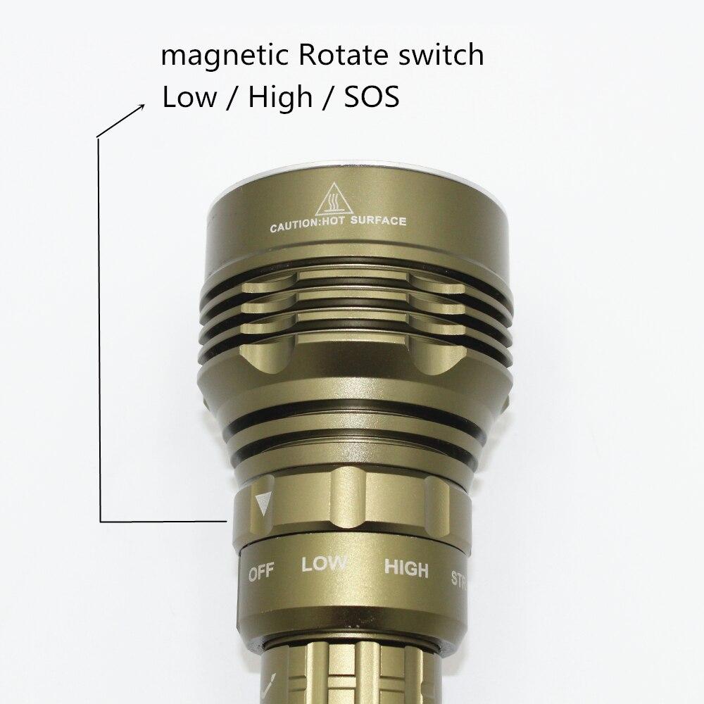 6000LM Hight Light LED Diving Flashlight Torch Lamps Waterproof for Diving Hiking Trekking Hunting Fishing L2 Lamp 3 Mode Lantar - 3