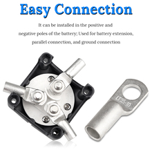 2PCS Marine Truck Car Battery Terminals Car Yacht RV Vehicle Disconnect Switch Kit Isolator Switch