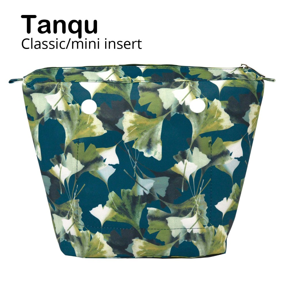 TANQU New Composite Twill Cloth Waterproof Inner Lining Insert Zipper Pocket For Classic Mini Obag Senior Inner Pocket For O Bag
